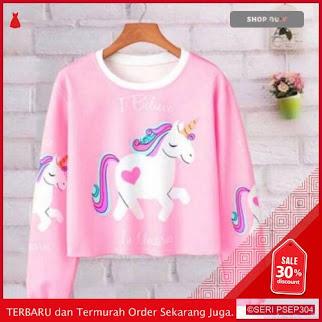 IAL542 Sweater Crop I Believe Pink | BMGShop
