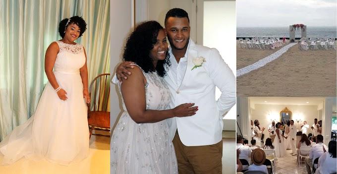 Tormenta arruina boda de dominicana en playa de Mississippi y tuvo que casarse en una casa