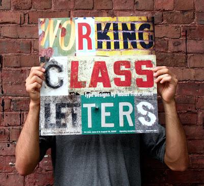 cartel diseñado con tipográfia o con fuentes
