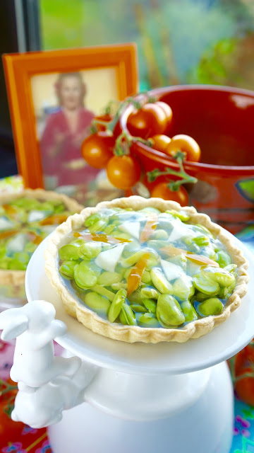 Fanny Cradock Broad Bean Tartlet
