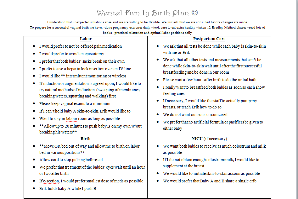 Doc.#781558: Birth Plan – 15 Mustsee Birth Plans Pins (+91 Related ...