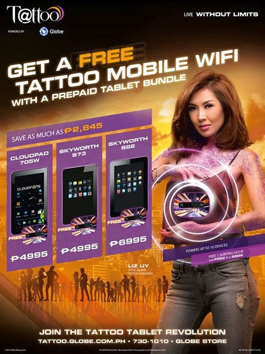 Tattoo Prepaid Tablet Bundles