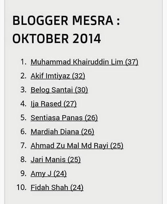 Blogger Mesra Oktober