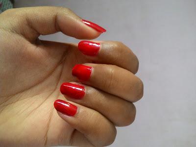 elle 18 nail polish red shade 41