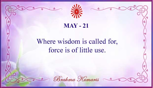 Thought For The Day May 21