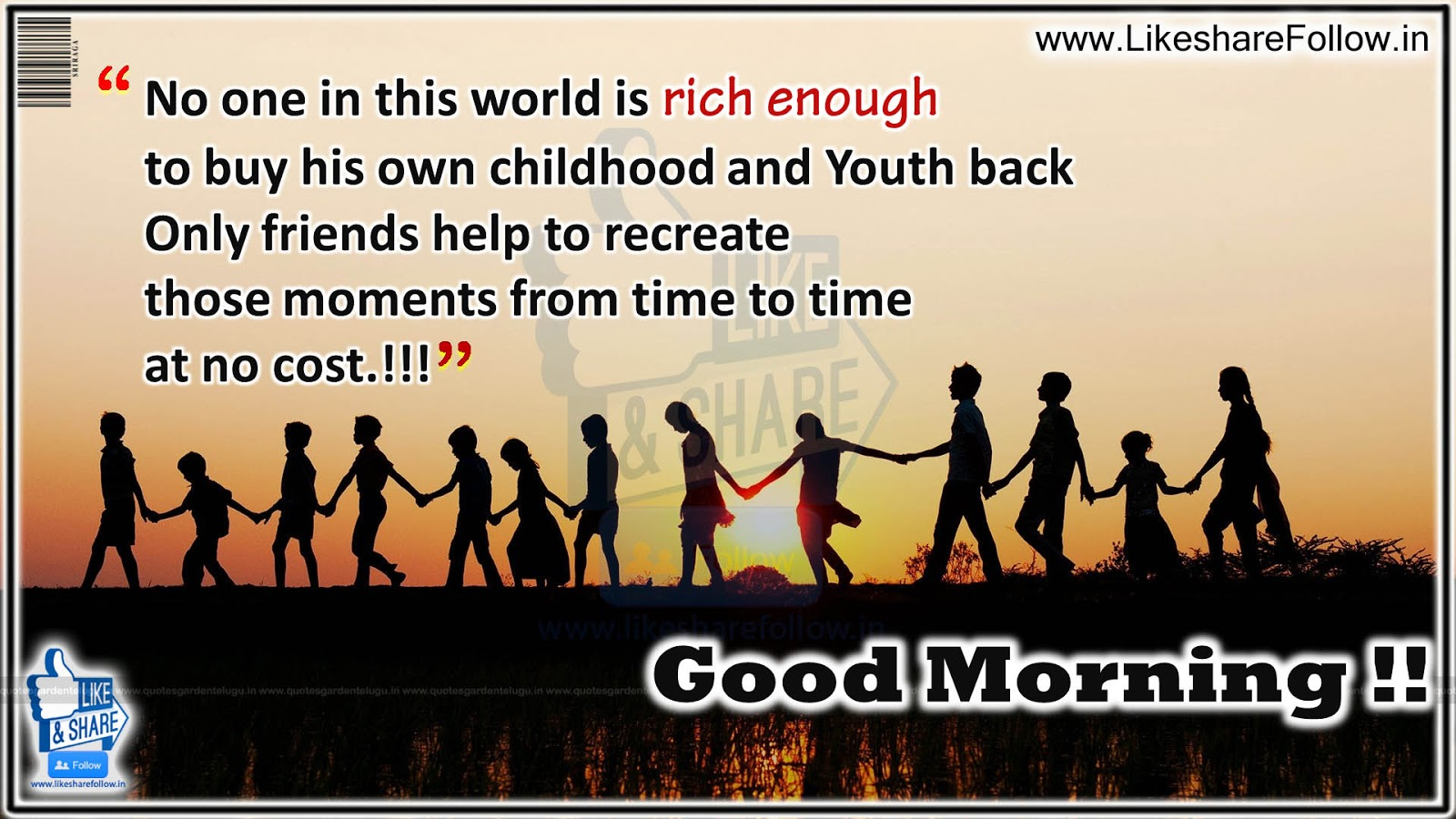 Best Good Morning Messages With Great Friendship Quotes Like Share