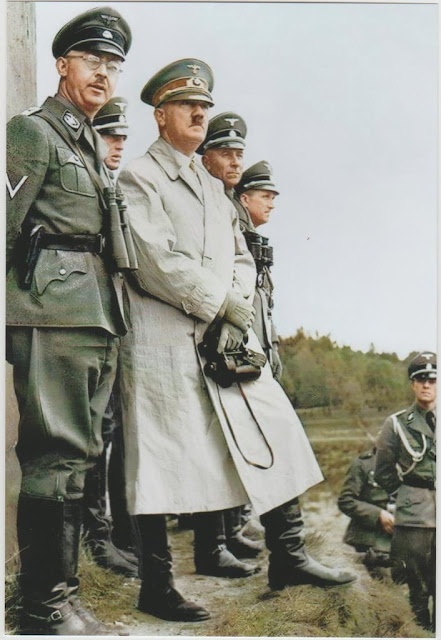 Heinrich Himmler and Hitler color photos of World War II worldwartwo.filminspector.com