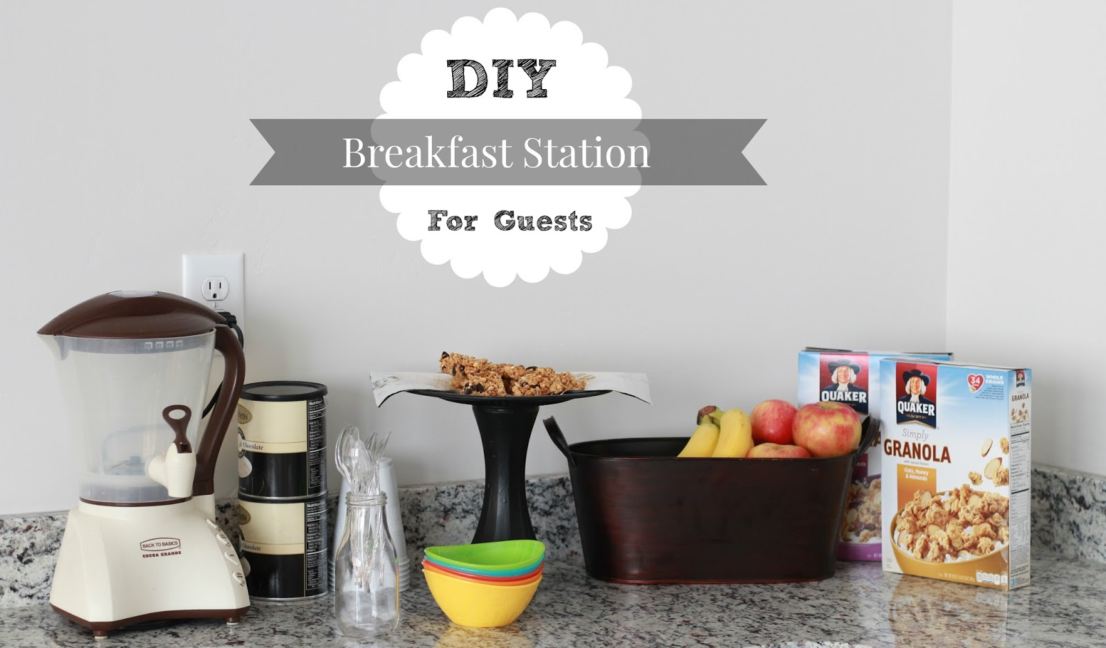 breakfast station for guests