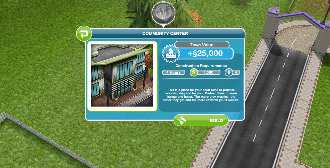 First you'll need to build the community centre: