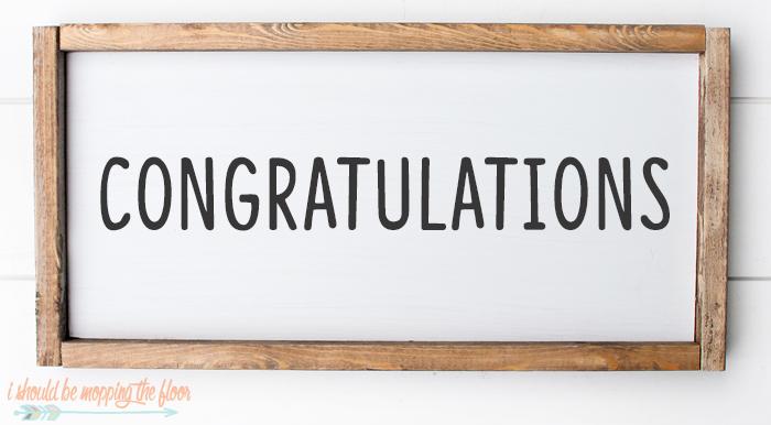 Congratulations Font