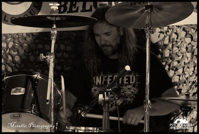 Olivier Pierret @Infected, Metal Corporation Fest 2015 - METAL, MCP Apache, Fontaine-L'Évêque, Belgique 29/08/2015