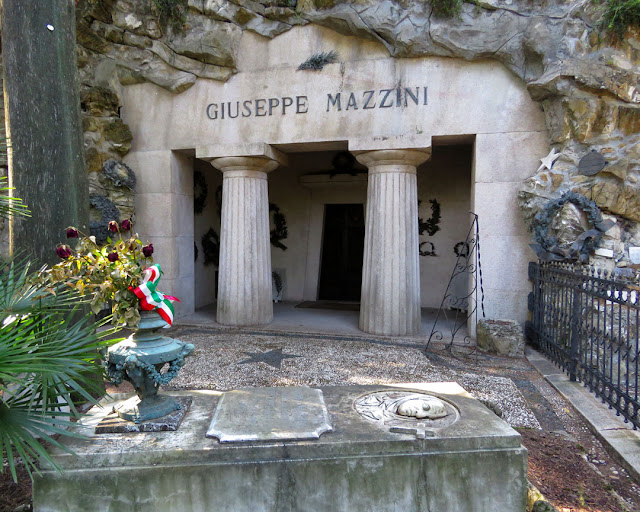 The tomb of Giuseppe Mazzini, Monumental Cemetery of Staglieno, Genoa