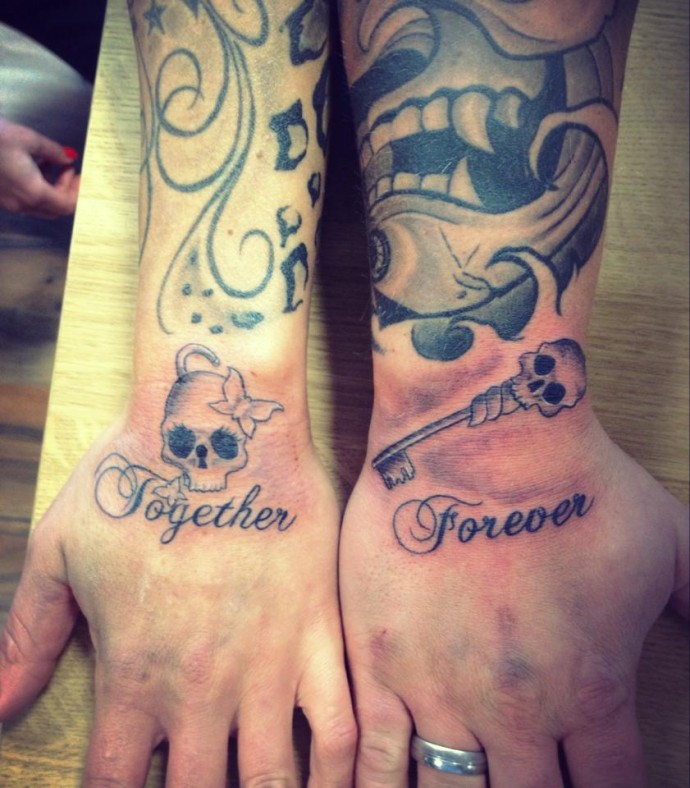 Forever together tattoos the image kid for Together forever tattoo