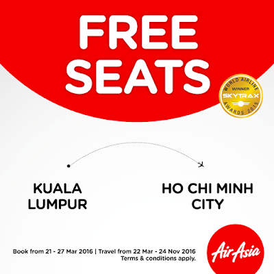 AirAsia Free Seats Promotion to Ho Chi Minh City