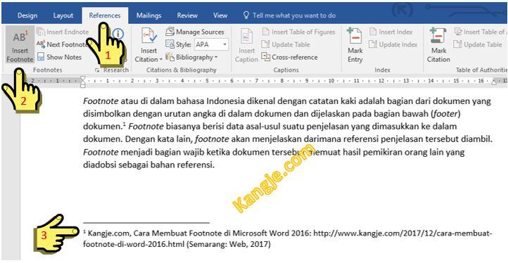 Cara Membuat Footnote Di Microsoft Word 2016 Dengan Mudah