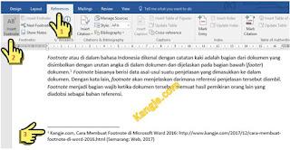 Langkah 4 Cara Membuat Footnote Di Microsoft Word 2016