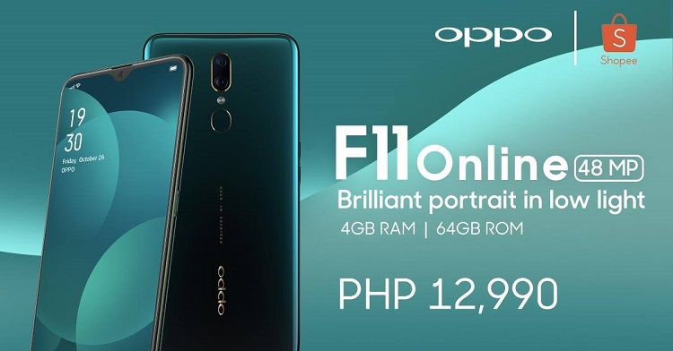OPPO F11 Online Exclusive Now on Shopee for Php12,990