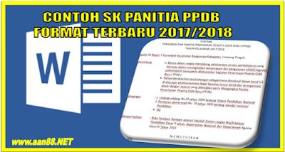 SK Panitia PPDB terbaru 2017/2018 tingkat SD SMP SMA dan SMK
