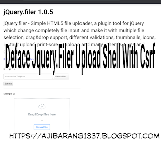 Deface Jquery.Filer Upload Shell With Csrf