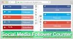 Social Media Follower Counter For Blogger