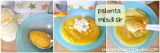Palenta i mladi sir za bebe