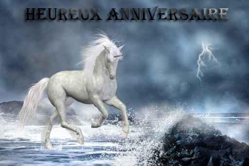 carte anniversaire cheval fille