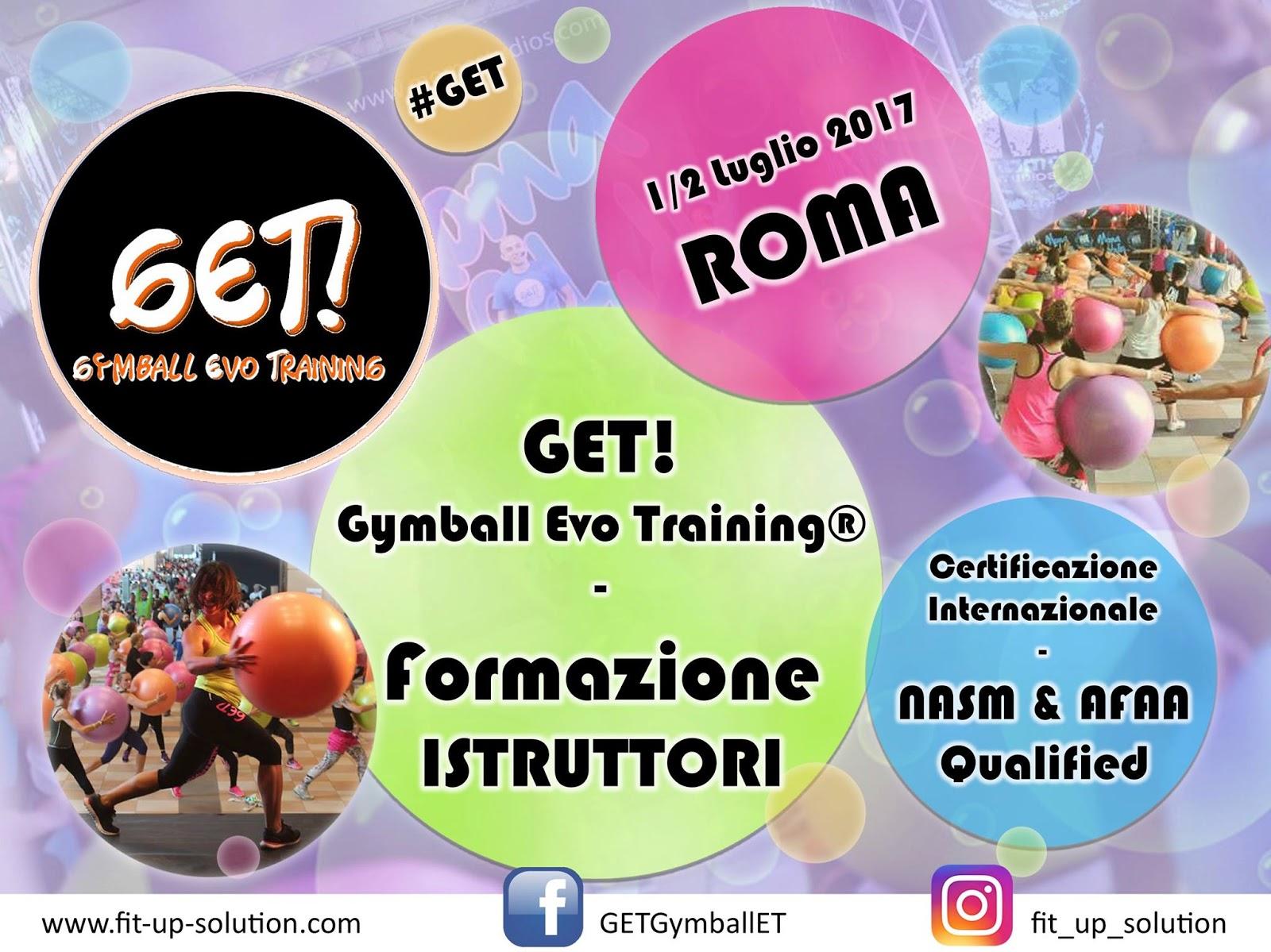 Formazione Fitness GET! Gymball Evo Training® - 1-2 luglio a Roma