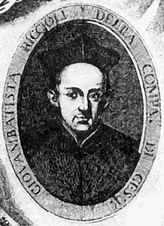 Giovanni Battista Riccioli pictured in an illustration from a 17th century book