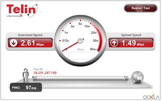 Cara test kecepatan internet telin