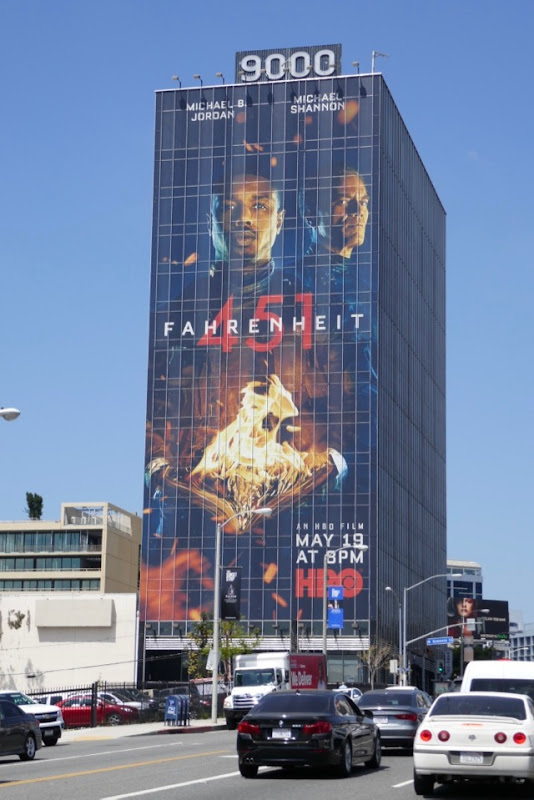 Giant Fahrenheit 451 movie billboard