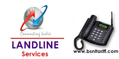 BSNL revised General Landline tariff for Rural and Urband plans