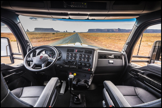 The New Kenworth W990 interior