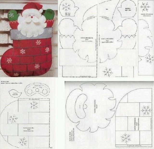 DIY - Decoração de Natal Com Feltro Super Fácil de Fazer Com Moldes 6