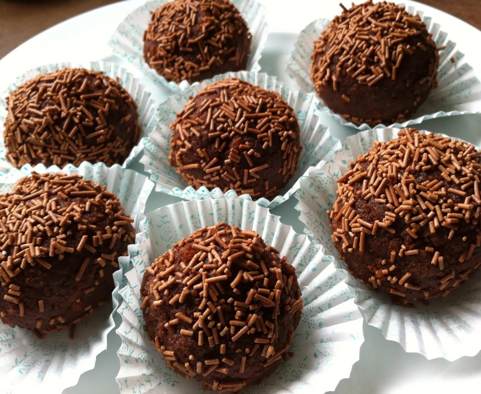 Chocolate Rum Balls Made Of Cake