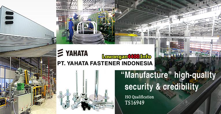 Lowongan Kerja Operator Produksi PT. Yahata Fastener Indonesia Cikarang Bekasi