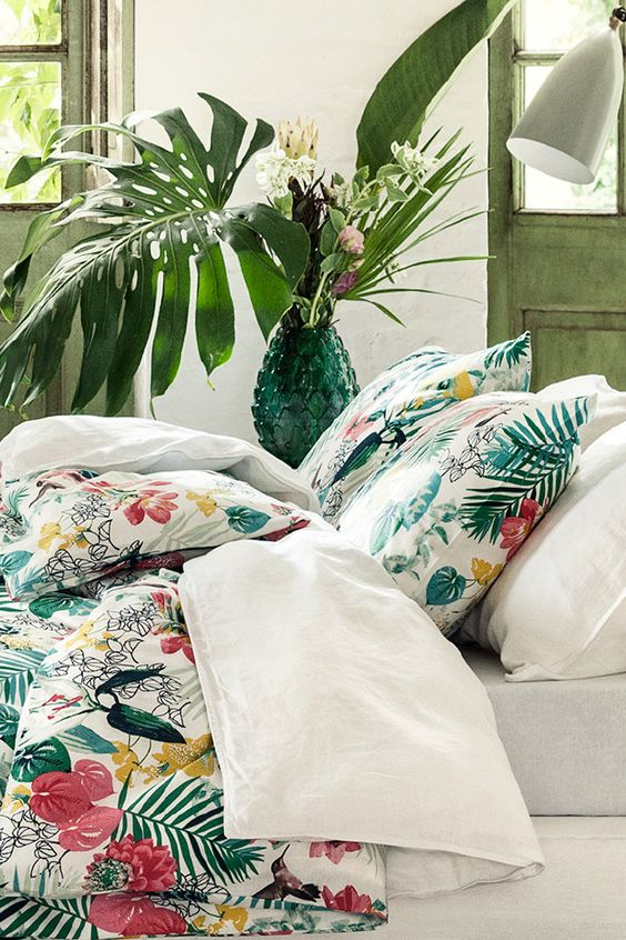 Give Your Home A Summer Update With Tropical Prints That Will Brighten Your  Space And Lift Your Mood. Bright Colors Raise Your Spirits, Help To Wake Up  And ...