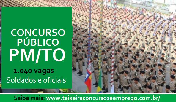 Concurso Público da Polícia Militar do Tocantins 2017