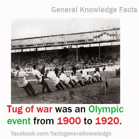 Tug of war was an Olympic event from 1900 to 1920