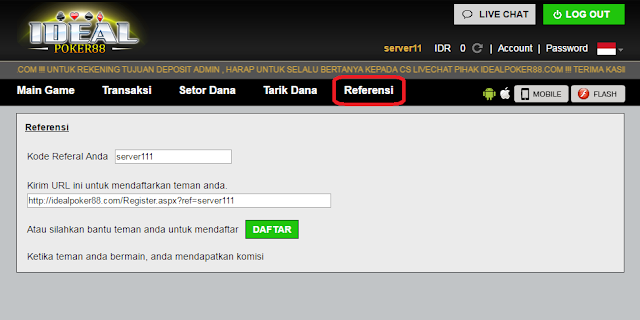 cara buat kode referral, link referral
