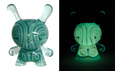 PIQ Exclusive OctoDunny Green Glow in the Dark Resin Figure by Josh Kimber x Clutter x Kidrobot