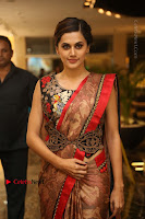 Tapsee Pannu Latest Stills in Red Silk Saree at Anando hma Pre Release Event .COM 0020.JPG
