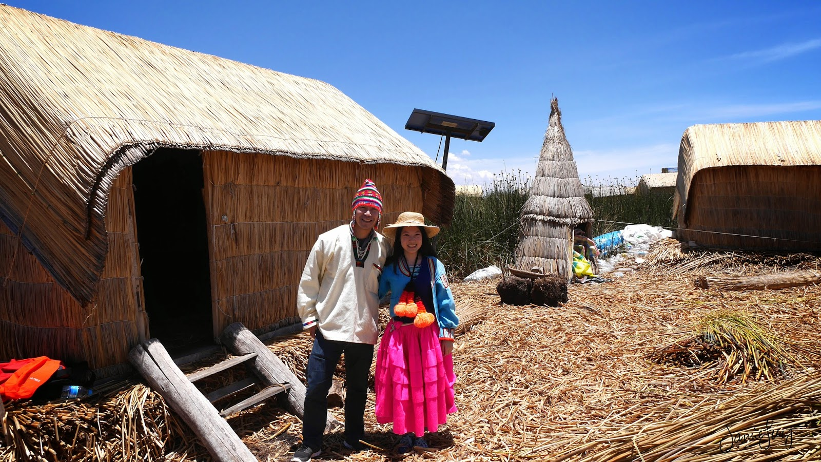 Wearing a Costume, Floating Islands of Uros, Lake Titicaca, Peru