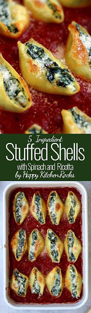 5 Ingredient Stuffed Shells with Spinach and Ricotta