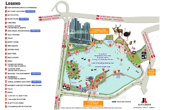 Map of 99 Wonderland Park