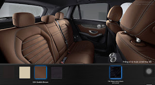Nội thất Mercedes GLC 300 4MATIC 2018 màu Nâu Saddle 234