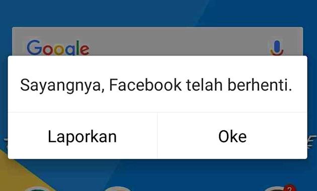 Error pada Facebook dan Cara Mengatasi Facebook Terhenti Sendiri di Android, Mudah dan Ampuh