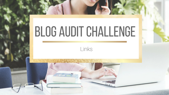 Blog Audit Challenge: Links #BookBlogging #Blogging