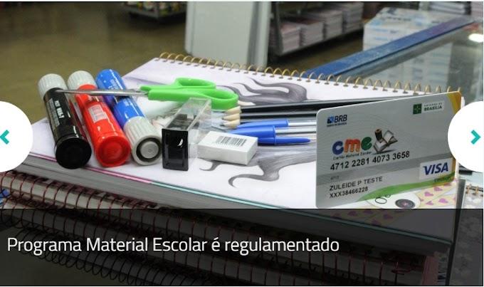 GDF: Programa Material Escolar é regulamentado