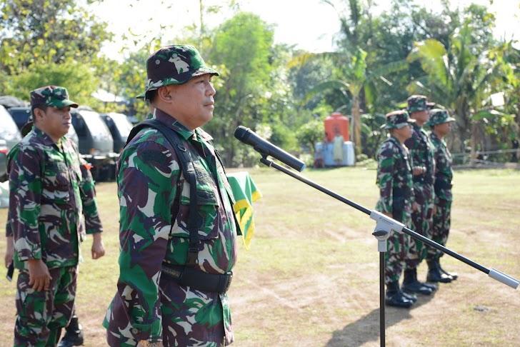 Wadanlat Letkol Inf Bobbie Triyantho, S.I.P, Kaji Ulang Latihan Posko II Yonif 726/Tml