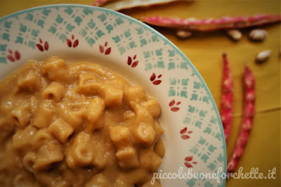 foto Ricetta pasta con crema di fagioli freschi per bambini